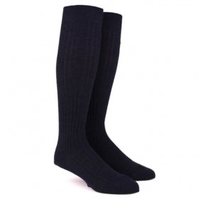 Men's woolen knee high socks - Black